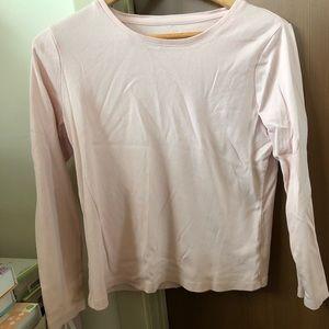 Talbots light pink long sleeve t shirt petites